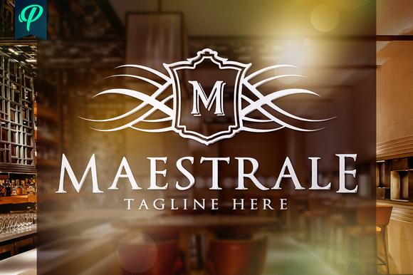 Maestrale Classy Elegant Logo