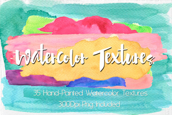 Watercolor Hand-painted Textures