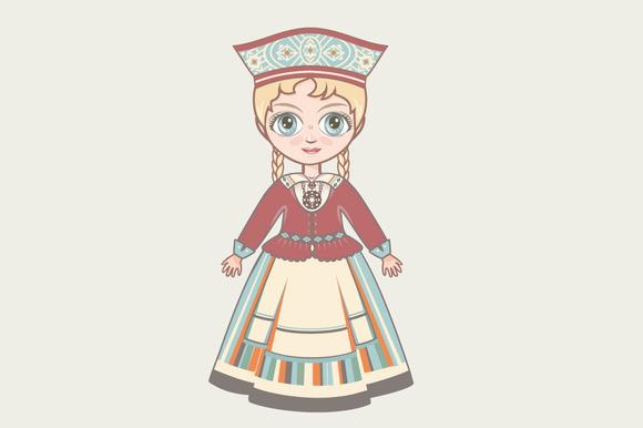 The Girl In Estonian Dress