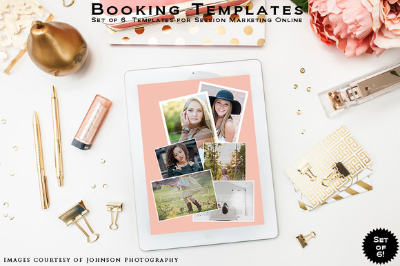 Booking Templates SETof6