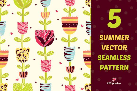 §іute Summer Seamless Pattern