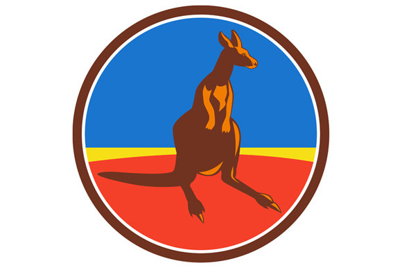 Kangaroo Circle Retro