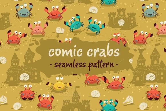 Comic Crabs Pattern
