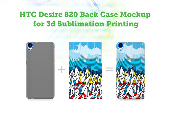 HTCDesire 820BackView Case 3D Mockup