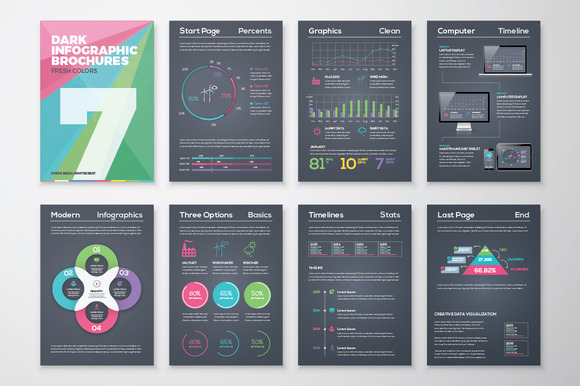 Infographic Brochure 7 Dark Version