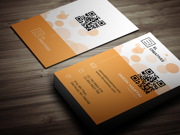 Creative Orange Business Card