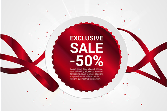 Exclusive Sale Vector Banner