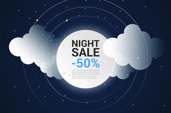 Nigh Sale Promotional Vector Banner
