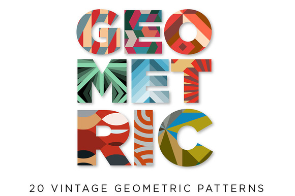 20 Geometric Retro Patterns