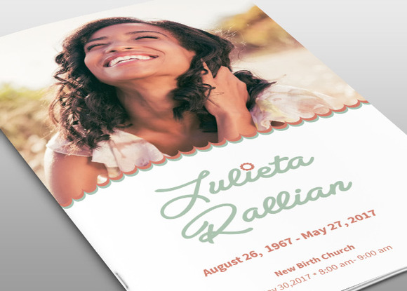 Atelas Funeral Program Template