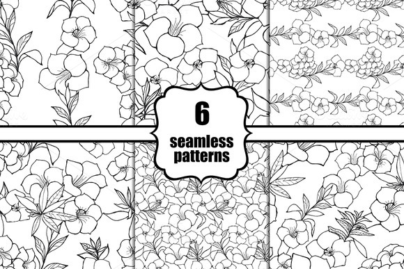 6 Seamless Black And White Patterns