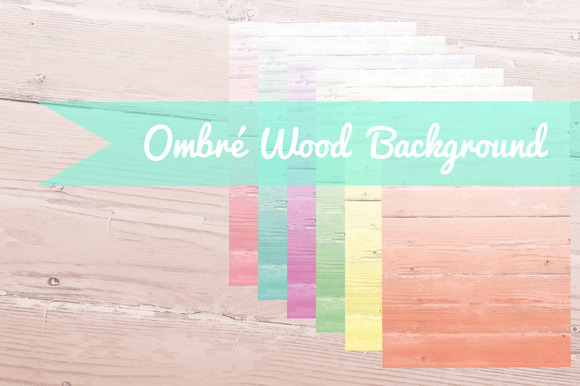 Ombre Wood Background