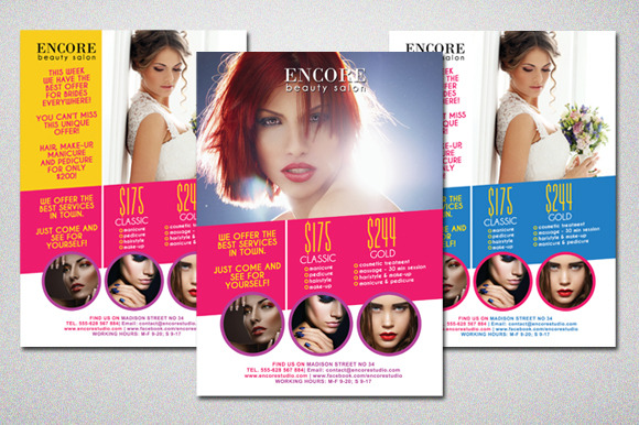 Beauty Salon Colorful Flyer