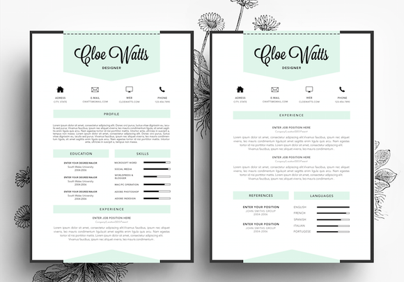 Resume Business Card PSD Template