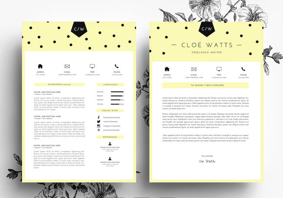 Resume And Business Card Template