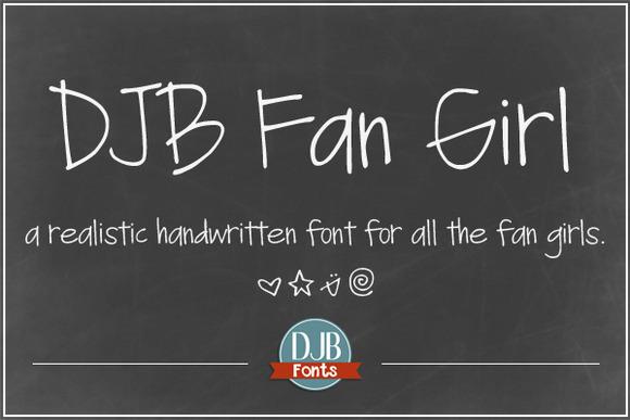DJB Fan Girl Font
