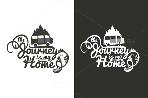 Lettering Poster About Journey