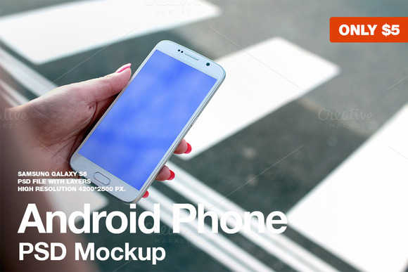 Galaxy S6 PSD Mockup