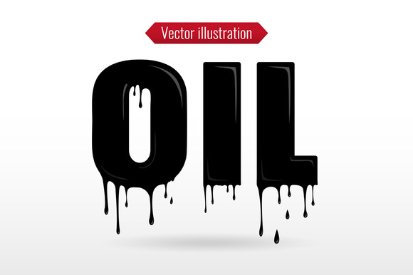 Liquid OIL Typography
