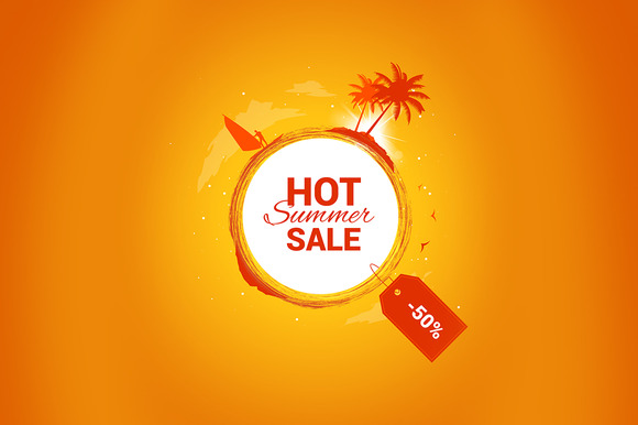 Hot Summer Sale Vector Banner