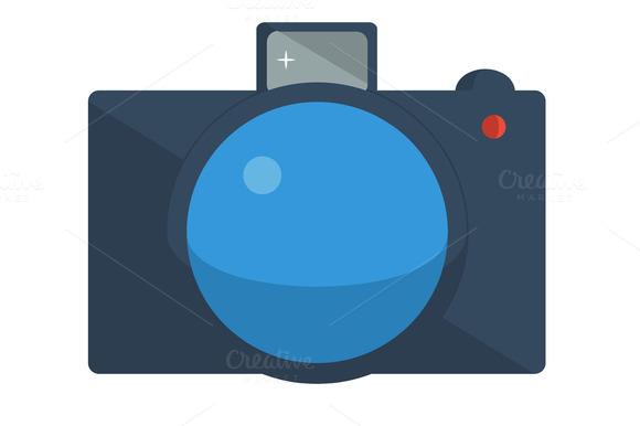 A Set Of Photos Flat Design