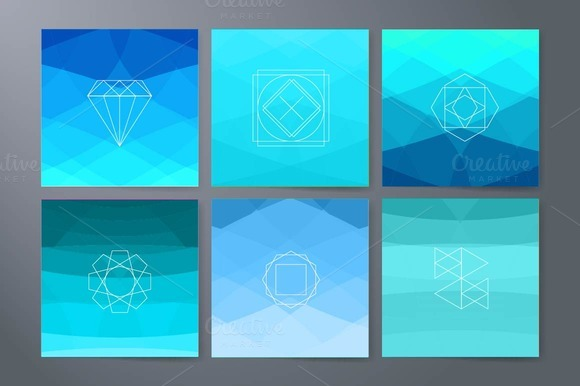 Hipster Icons On Triangle Background