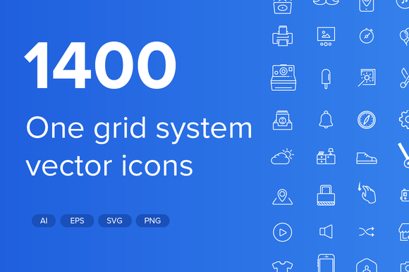 1400 Stroke And Solid Vector Icons