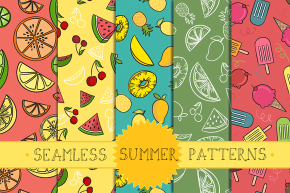 Seamless Summer Patterns Part 1