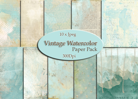 Vintage Watercolor Papers