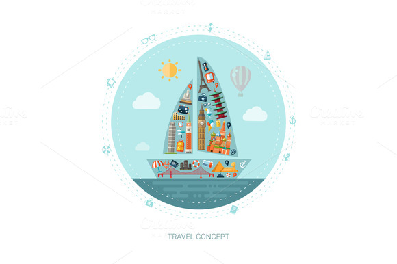 Travel Concept Postcard