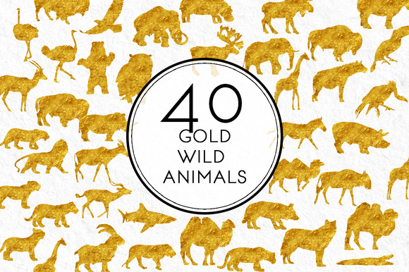 Gold Wild Animals