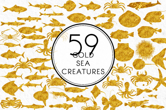 Gold Sea Creatures