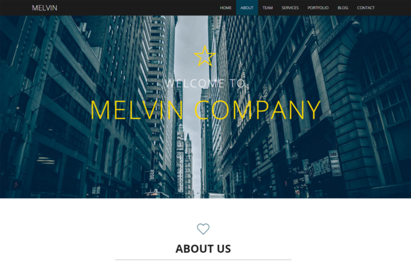 Melvin Business Template