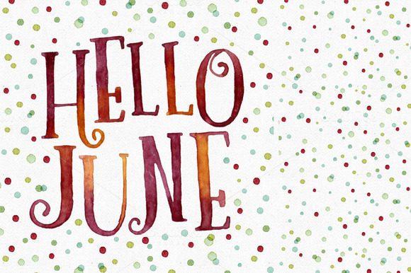 Hello June Dots Pattern