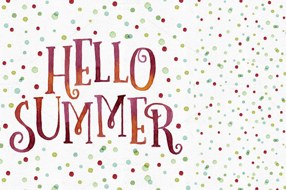 Hello Summer Dots Pattern