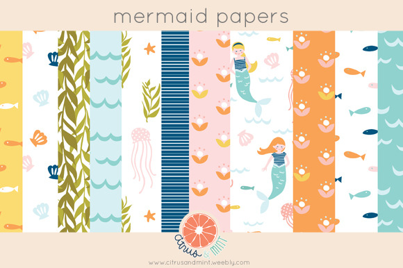 Mermaid Paper Pack