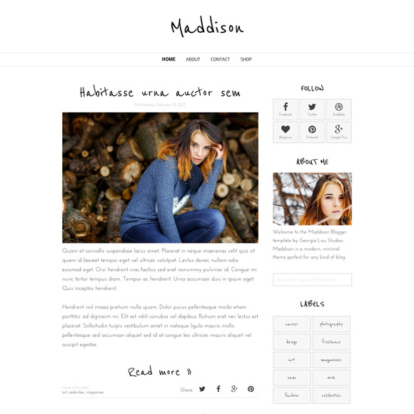 Blogger Template Responsive-Maddison