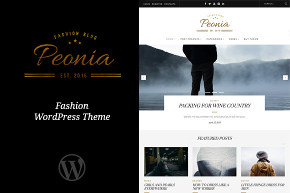 Peonia Fashion Blog Theme