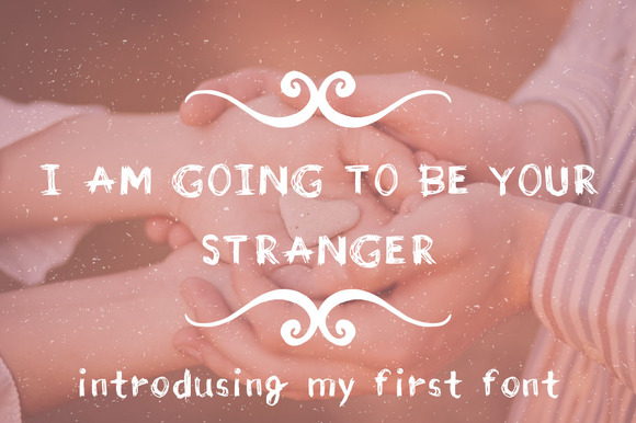 Stranger Hand Drawn Scetchy Font
