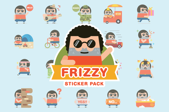 Frizzy Sticker Pack