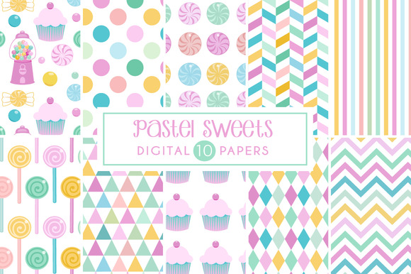 40% Off Pastel Candy Backgrounds