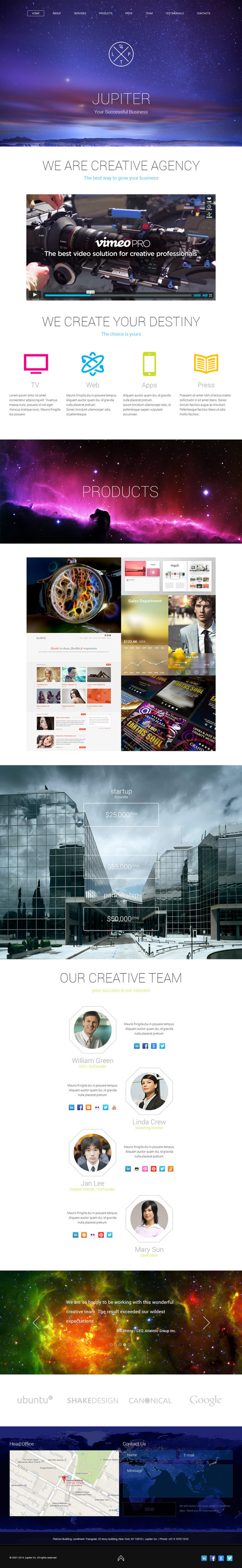 Jupiter Creative Agency PSD Template