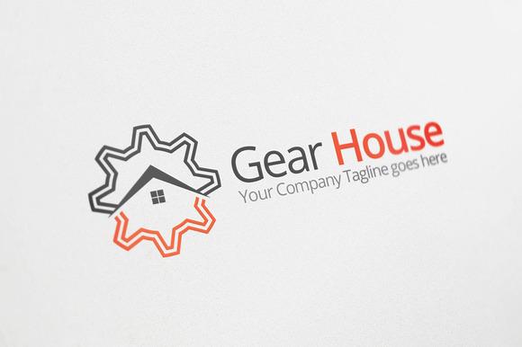 Gear House Logo Template