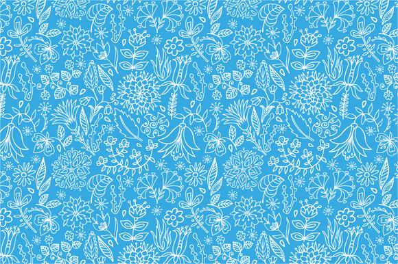 4 Sketch Floral Pattern