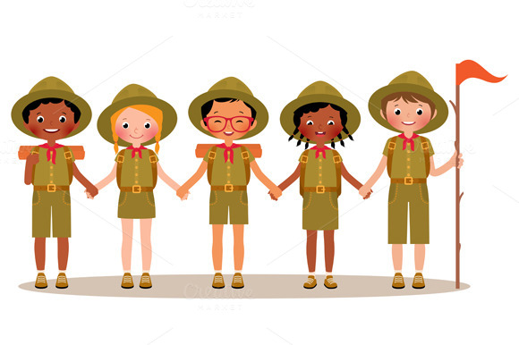§іhildren Boys And Girls Scouts