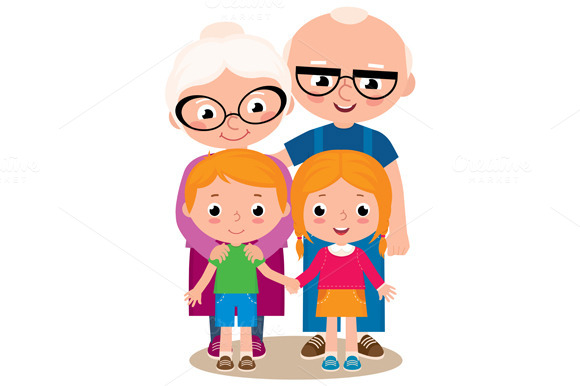Grandparents Clip Art » Designtube - Creative Design Content