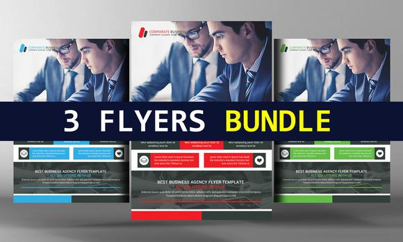 3 Corporate Business Flyers Bundle