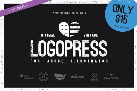 Logopress Minimal Vintage Styles