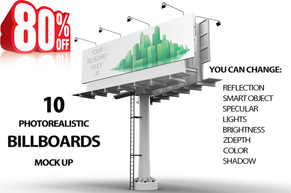 Bundle Billboard MockUps 10 Views