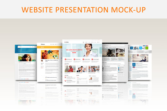 Website Presentation Mock-up